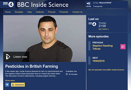 AICC Chairman's strong defence of convential farming on BBC Radio 4